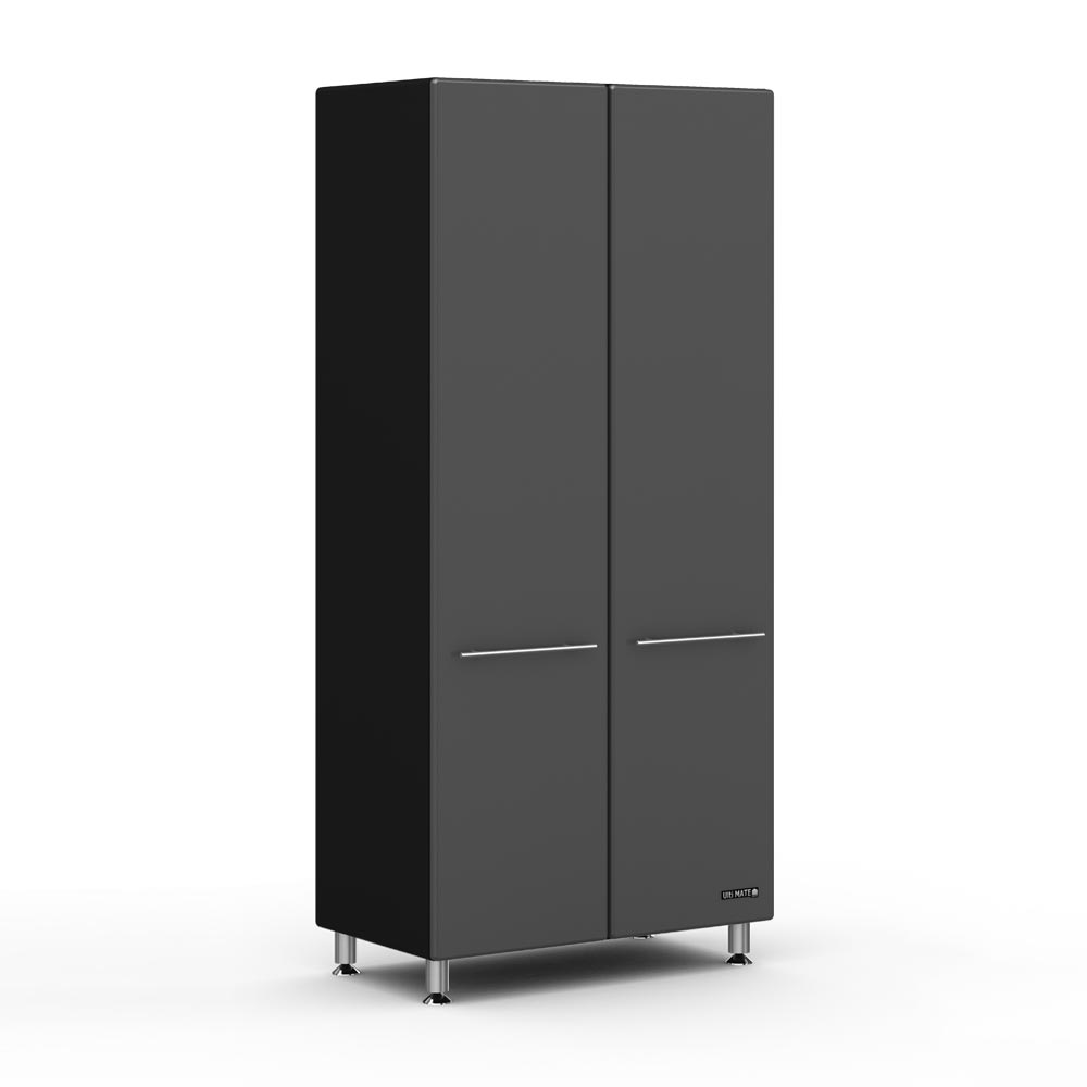 Ulti Mate Garage 2 Door Tall Cabinet Graphite Ezyneezy