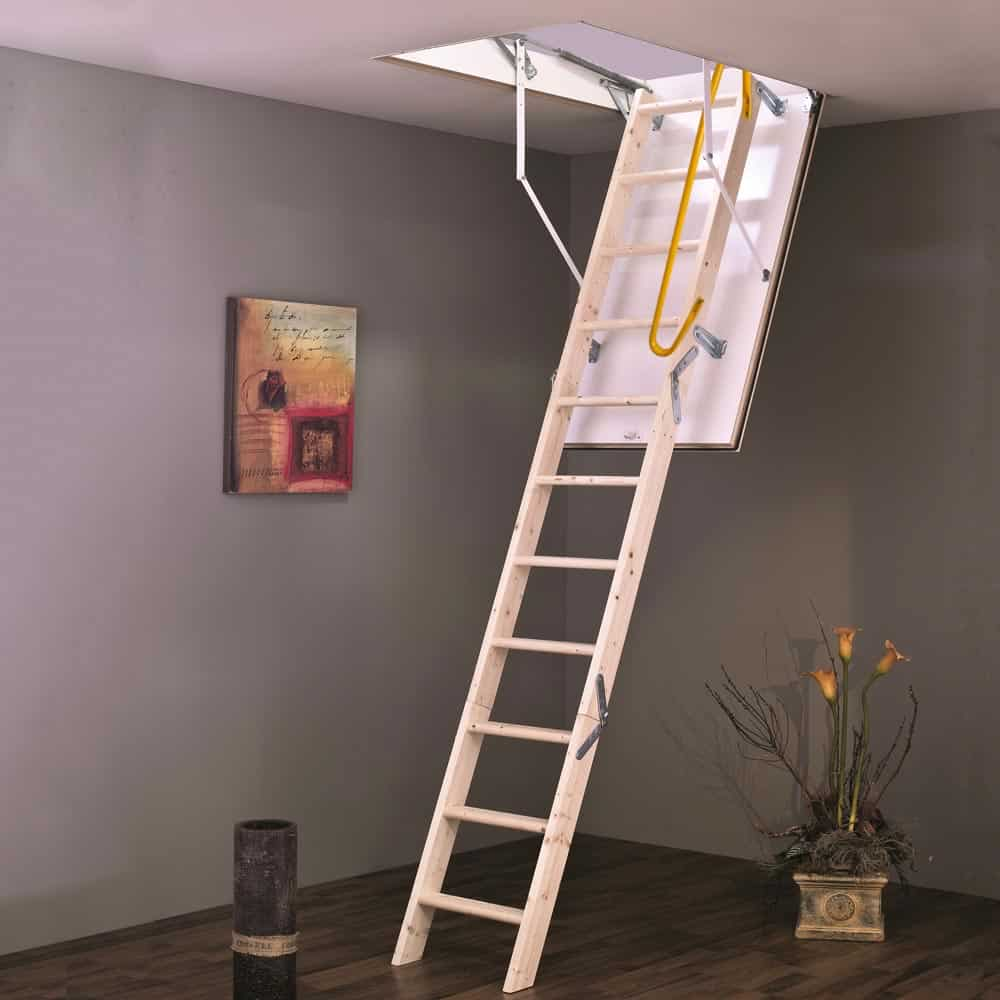 Home Pro Heavy Duty Wooden Attic Ladder